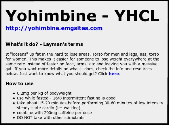 Yohimbe side effects men